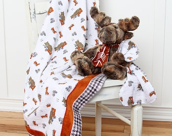 Shannon Frame Game Cuddle Kit Wild Rumpus - Quick Quilt Kit - Great baby gift handmade by you!