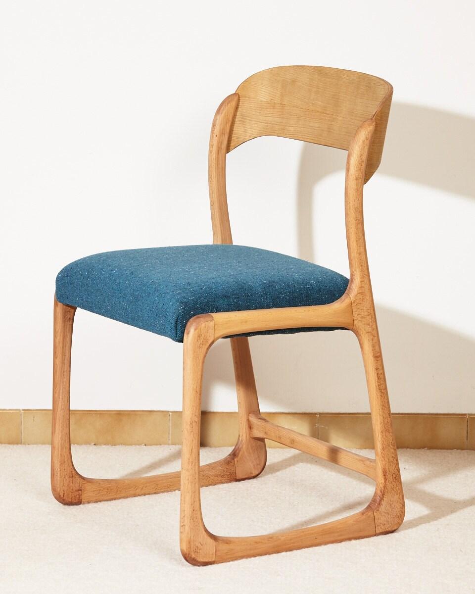 Chaise Baumann Forme Traineau Forme Vintage Scandinave Bois # Secretaire Scandinave Rangement Multi Taille