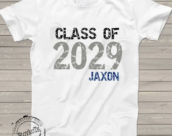 Back to School shirt, Graduation Class of 2029 t-shirt, personalized with any year, First Day of School, future Graduation gift