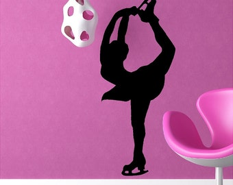 Figure Skater Wall Decal Removable Ice Skating Wall Sticker
