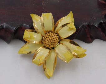 Vintage Yellow and Gold Flower Finding For Repair or Supply