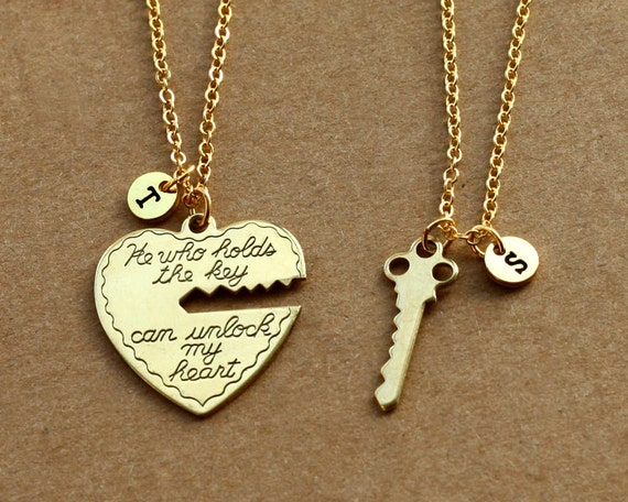 he who holds the key gold necklace heart key necklace his. Black Bedroom Furniture Sets. Home Design Ideas