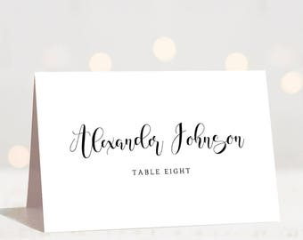 Wedding Place Cards Etsy - Seating card template