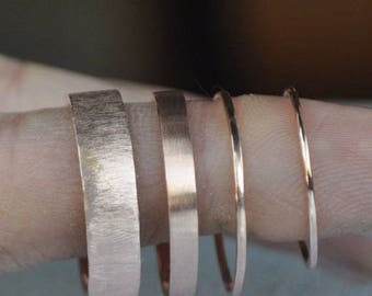 Engravable ladies or mens wedding band , can be personalized, 14kt rose gold 3mm 3.5mm 4mm 4.5mm 5mm 5.5mm 6mm 7mm 8mm matte brushed ring