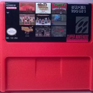 100 in 1 Super Game Cartridge 16-Bit Multicart NTSC SNES Super Nintendo - Free Shipping from United States! Hagane, Final Fight Guy, More!