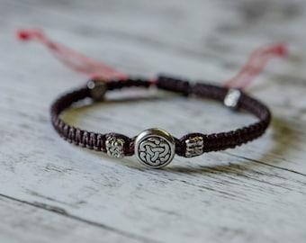 Sterling Silver Endless Knot Adjustable Bracelet