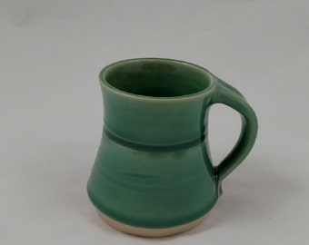 Turquoise Green Pottery Mug Handmade by Daisy Friesen