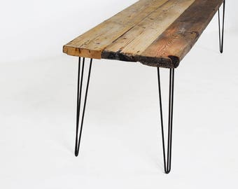 Industrial Schreibtisch industrial dining table made from reclaimed housing boards and