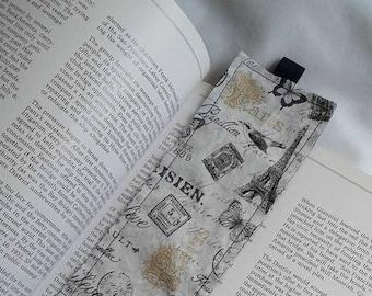 Paris Bookmark / Fabric Bookmark / Eiffel Tower / Teacher Appreciation  / Bookmark