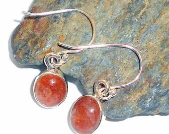 Sunstone Sterling Silver Earrings earthegy #1293