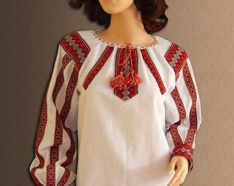 Ukrainian embroidery Folk ladies blouse Vyshyvanka Ukrainian blouse Ethnic womens blouse Ukrainian clothing Cotton blouse