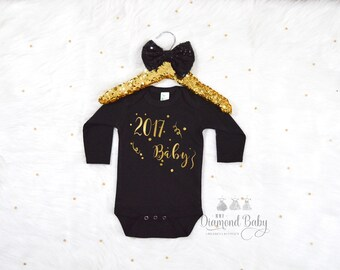 New Year BabyOnesie-Baby 2017 Onesie-New Year Onesie-New Years Onesie