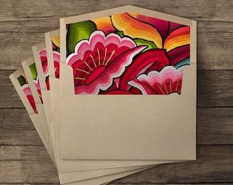 Oaxaca lined envelopes - 10 pieces