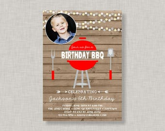 Birthday BBQ Invitation, Backyard BBQ Invitation, BBQ Invitation, Backyard Barbecue, Barbecue Birthday, Grill Invitation