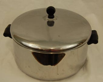 Vtg Farberware 6 Quart Sauce Pot Aluminum Clad Stainless Steel Made in the USA Made to Last NO LID 6 qt.