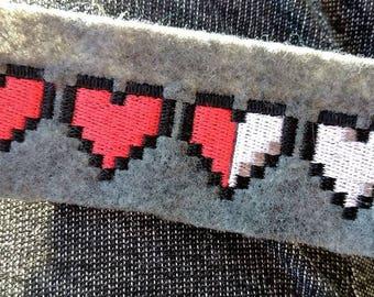 Pixel Heart Life Meter Patch