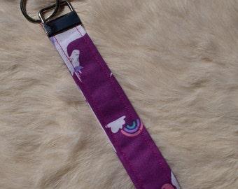 Unicoorn fabric key fob