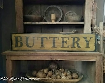 Early looking Antique Primitive Buttery Sign