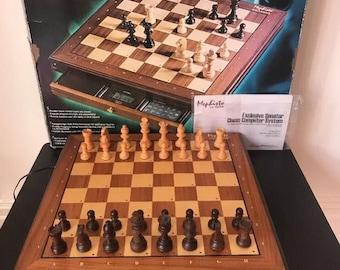 Mephisto Exclusive Senator 32 Bit Modul Wooden Chess Computer System Saitek Kasperov