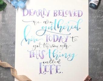 Dearly Beloved/ Let's Go Crazy / Prince Lyrics