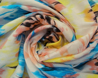 Dressmaking Fabric Cotton Fabric For Sewing Designer Crafting White Fabric Cotton Abstract Print Sew Dress Pillow Drape By 1 Yard ZBC1530