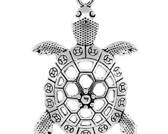 2 charms Charm turtle animal 5.7 cm x 3.9 cm