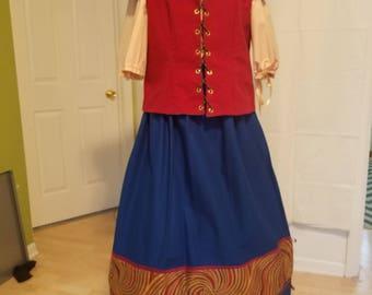Renaissance Lady - Handmaiden/Shopkeeper/Peasant Outfit - Skirt/Chemise/Jerkin