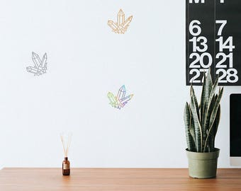 Crystal Geometric Outline Decal