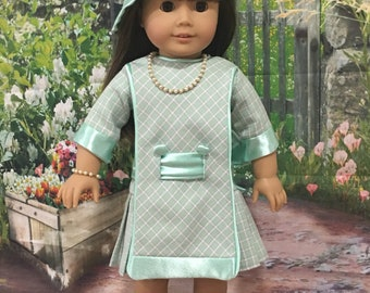 18 inch doll clothes, dress and hat