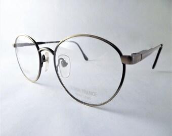 Bronze Eyeglasses, Gold Glasses, Round Eyeglasses, Metal Frames, Vintage Round Eyeglasses, 1980s Eyeglasses, Womens Wire Glasses