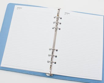 Printed A5 Half letter Size 2018 dated on one Page one day Daily Diary 19 solid color[B075/8_A5_lined]