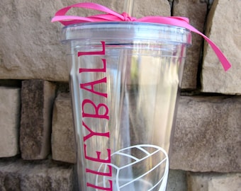 Personalized Volleyball Tumbler- Great for Volleyball Team Gifts