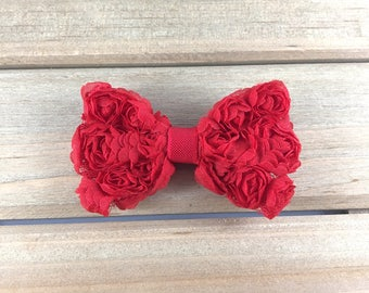 Red Hair Clip, hair clips for girls, red bow hair clips, girls hair clips, bow Alligator Clip, hair clip, hair bow for girls, clippies