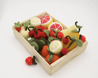 Crochet fruit assortment
