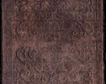 Antique Book Cover / 14 x 18 / Digital Instant Download / Book Cover / Old Book / Paper Ephemera / Antique Ephemera / Book Art / Schoolbook