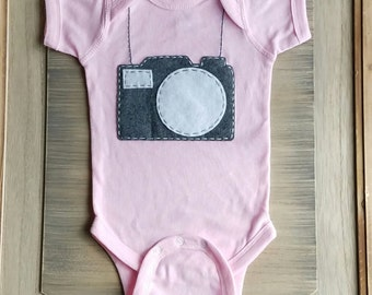 Assistant Photographer, Photographer baby, newborn photography outfit, One Piece Baby creeper