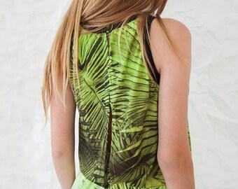 Printed Summer Dress - Sun Dress - Tropical Leaves Dress - Hawaii Dress - Sleeveless Dress - Open Back Dress - Casual Dress - Sun Dress