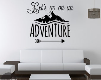 Let's Go On An Adventure Vinyl Wall Decal Sticker