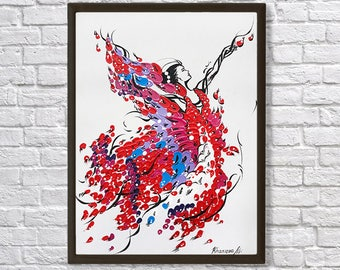 Ballerina, ballerina painting, oil painting, abstract painting, wall art, acrylic painting, contemporary art, large wall art, abstract art