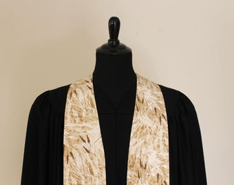 """Clergy Stole, Wheat #169, Pastor Stole, Minister Stole, 54"""" Length, Pastor Gift, Vestments, Church"""