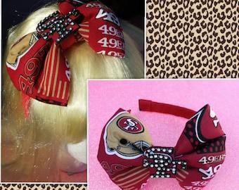 San Francisco 49ers blingy Headband bow