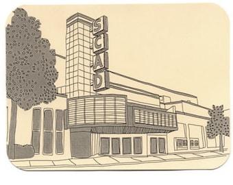 SCAD Postcards, Savannah Georgia Drawings, Landmarks, Illustrations