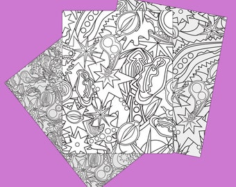 "Pure Filth [adult coloring page download 3 pack; 300dpi / 8.5x11"" files]"