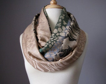 Nude, Infinity scarf, Mothers Day gift, Baby shower favor, Newborn, New baby gift, Nursing cover, New Mom gift,New mom, shawl, gift for Mom