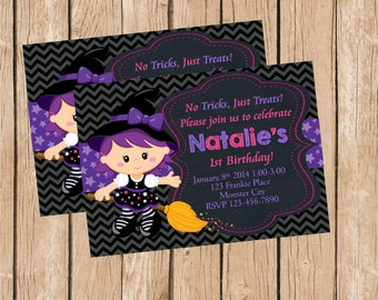Cute Witch Invitation