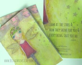 NOTEBOOK WILLOW : Fairy, Blank Notebook, Journal Notebook, Art Journal, Mixed Media Art, Blank Notebook, A5 Notebook