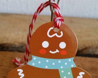 Set of 5 gift tags (6.5 x 6 5cm) Christmas snowman