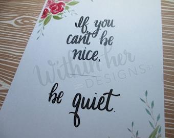 Be Nice Print-Wall Decor-Watercolor Wall Art