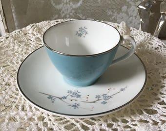 Demitasse Cup & Saucer Summer Song H4949 by Royal Doulton England Bone China