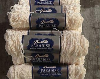 Vintage Bucilla Paradise Hand Knitting Yarn Color 401 16 Skeins 1 Oz Each